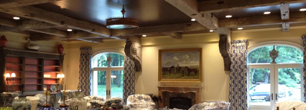 Great room Timber frame Snooks Hollow Retreat LEED Platinum_Ramsgard