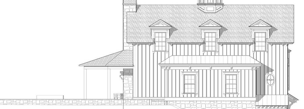 Rendered Elevation Carriage House Barn Skaneateles_Ramsgard