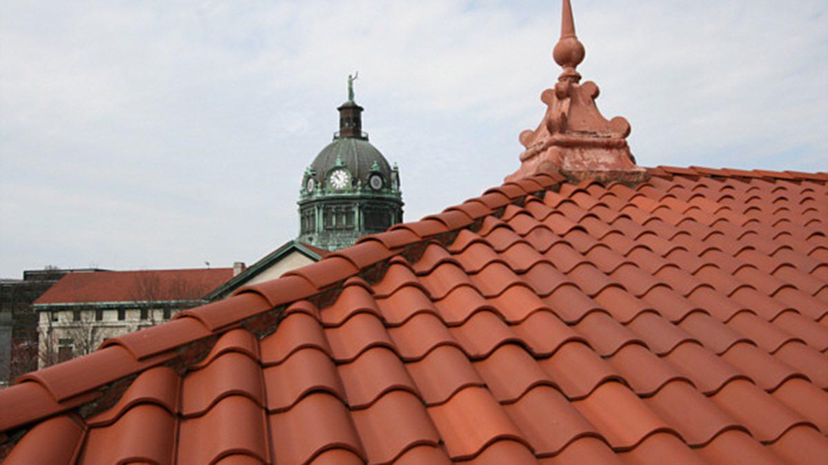 Terracotta roof InteriorBinghamton Carnegie Library_Ramsgard