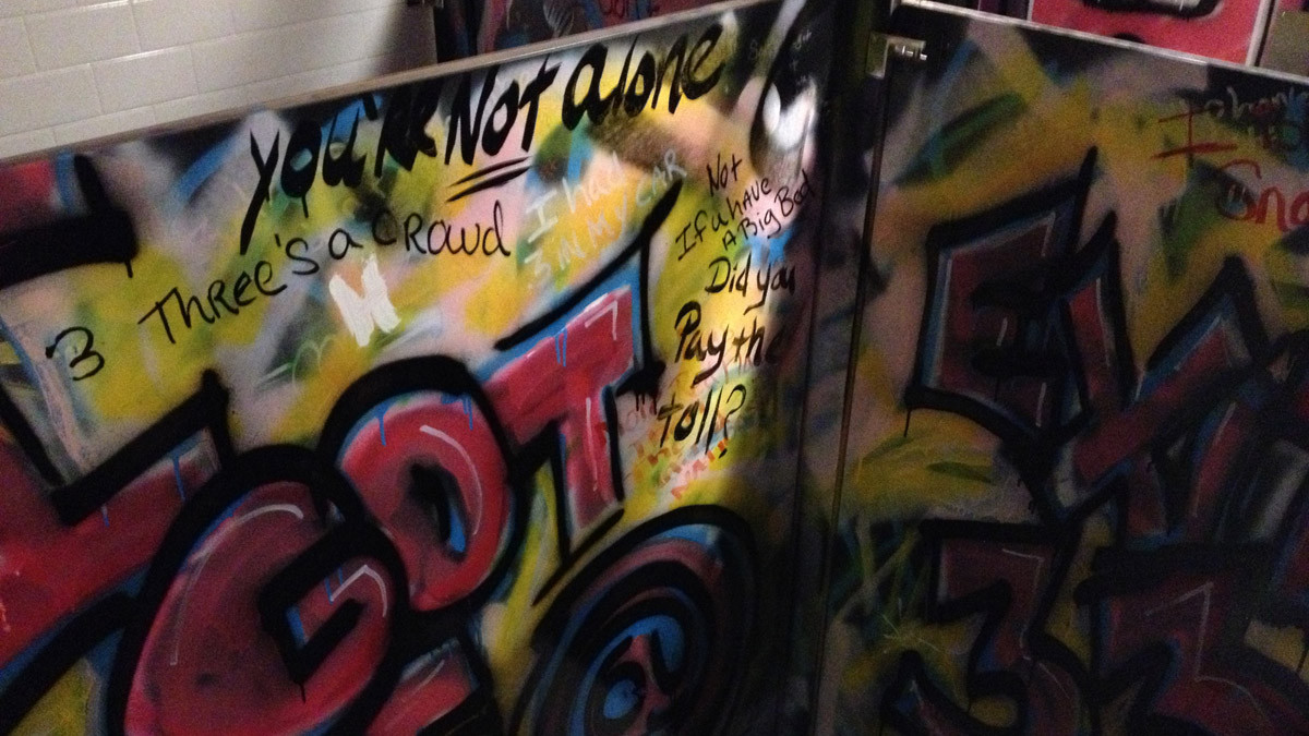 Bathroom Graffiti The Gigi Verona_Ramsgard