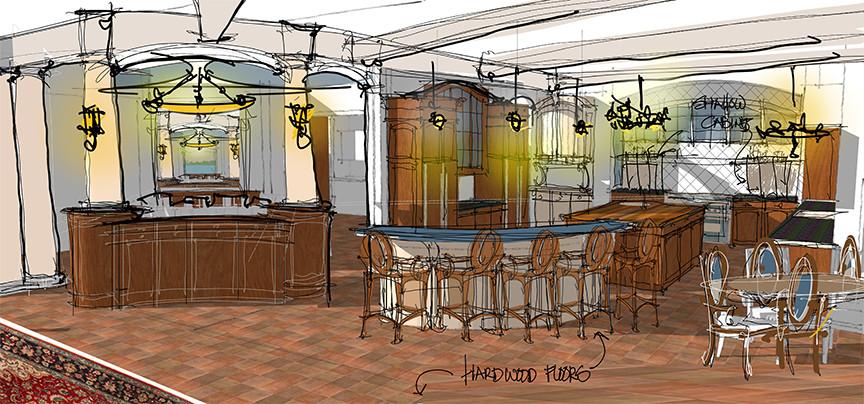 kitchen concept Sketch Italianate Skaneatleles _Ramsgard