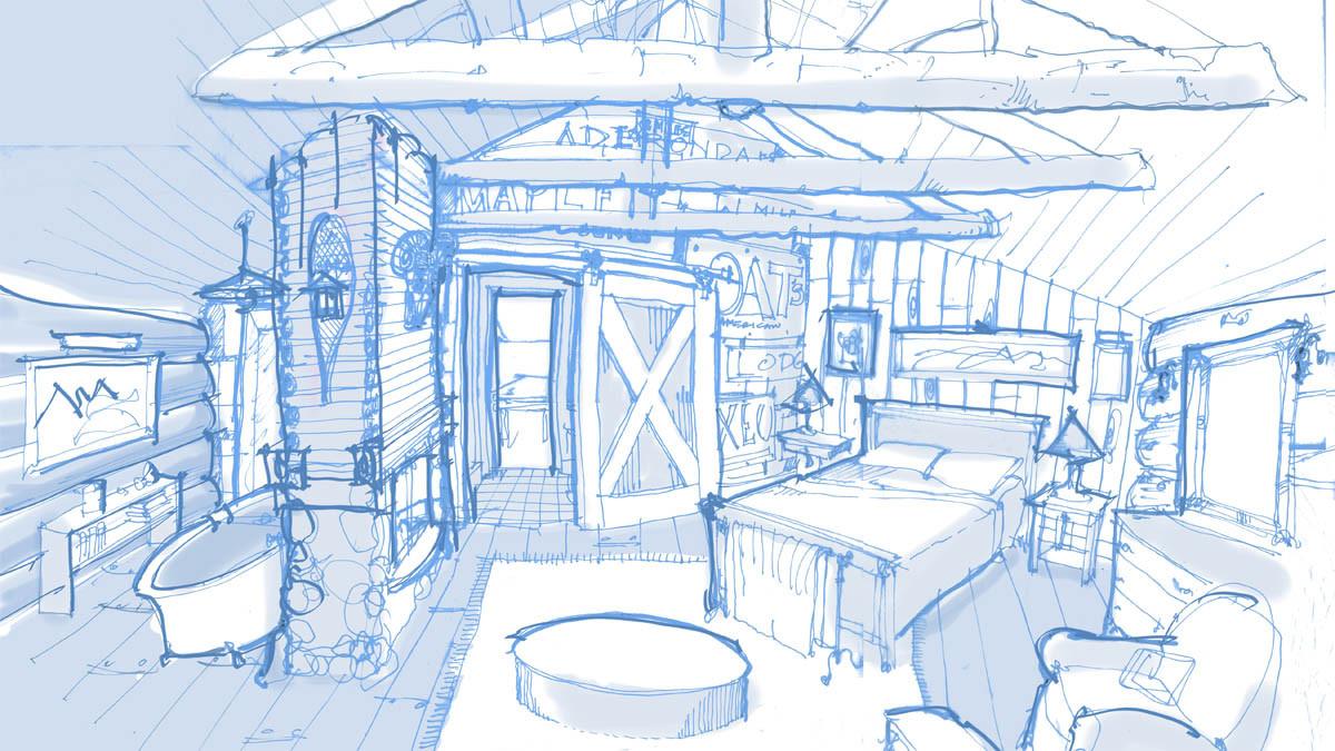 Master-Bedroom-Sketch Createive Arts and Crafts Bungalow_Ramsgard
