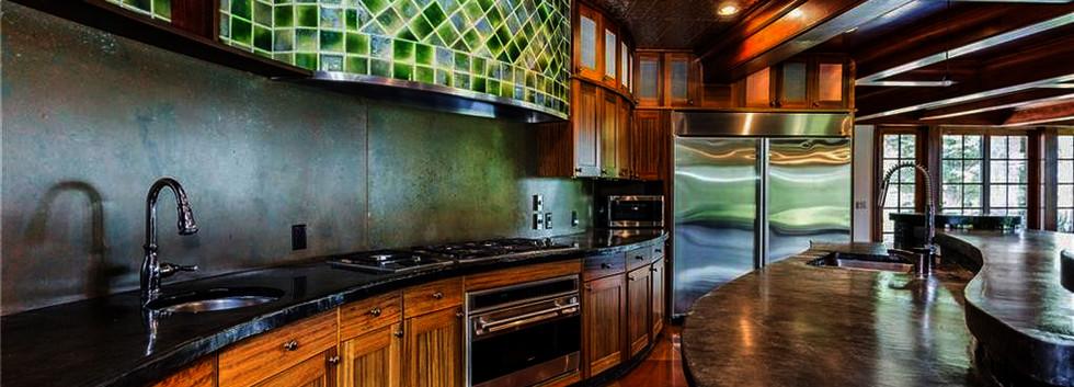 Bamerick Kitchen green tile rounded counter_Ramsgard