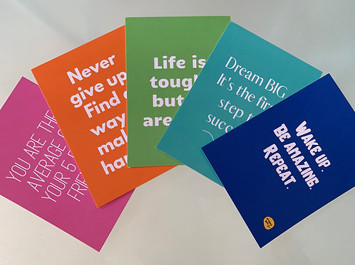 The 'Daily reminders' affirmation postcards