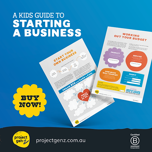 Launchpad- A kids guide to starting a business.  Age 7-12
