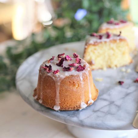 Lemon and Rose Syrup Mini Cakes