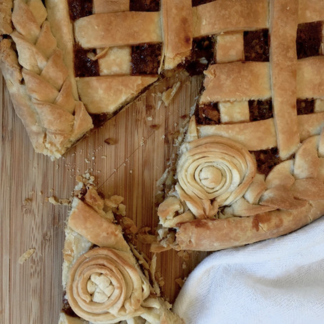Date & Walnut Lattice Pie
