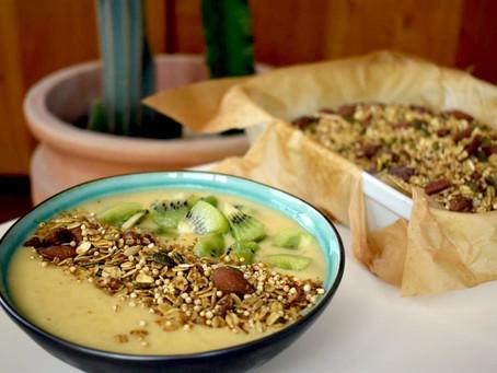 Granola with Puffed Quinoa & Tahini