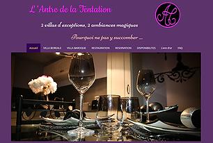 L'Antre de la tentation - Web Online Concept