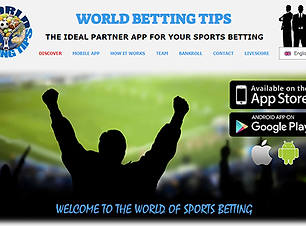 World betting tips - Web Online Concept