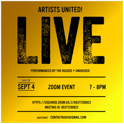 Artists United! taking action online