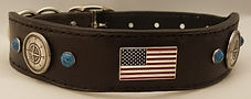 hand made leather dog collar