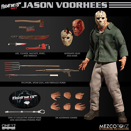 1/12 Scale Jason Voorhees from Friday the 13th Part 3 (One:12 Co