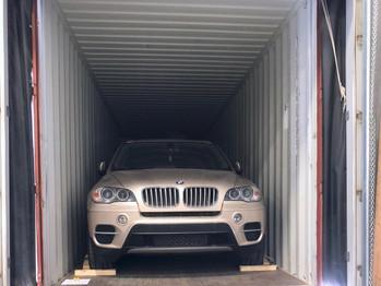 귀국차량 컨테이너 작업사진