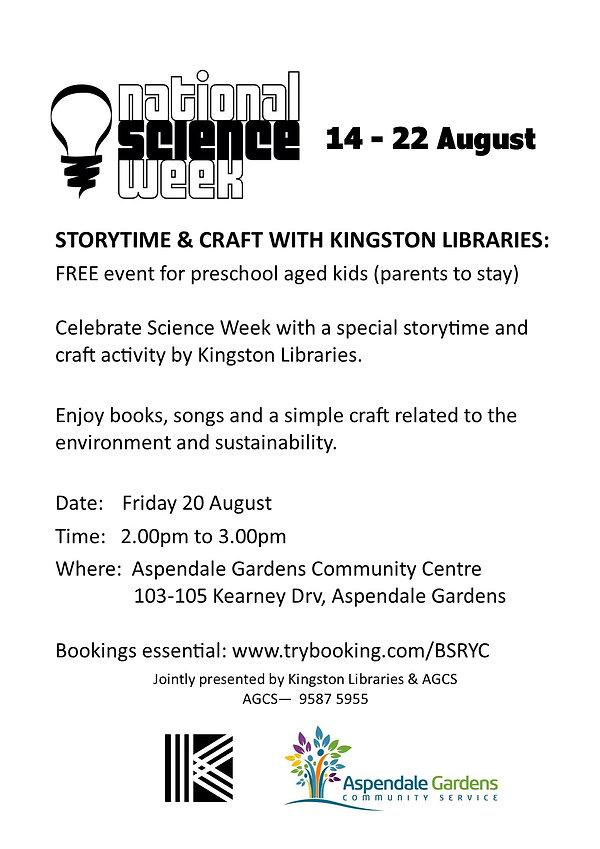 Flyer Kingston 20 Aug