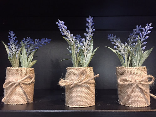 Lavender wrapped in Burlap