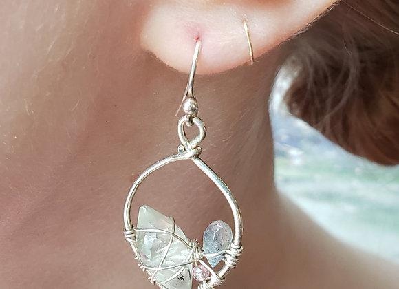 Portland Leaf Web earrings