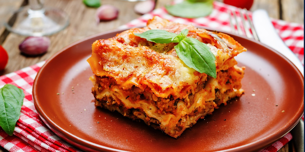 TEEN WORKSHOP: Lasagna & Garlic Bread