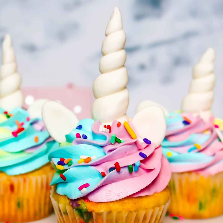 Unicorn Cupcake Decorating