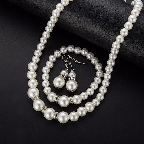 Perle smykkesett