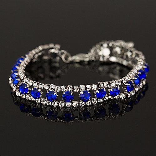 Krystall armbånd i blå