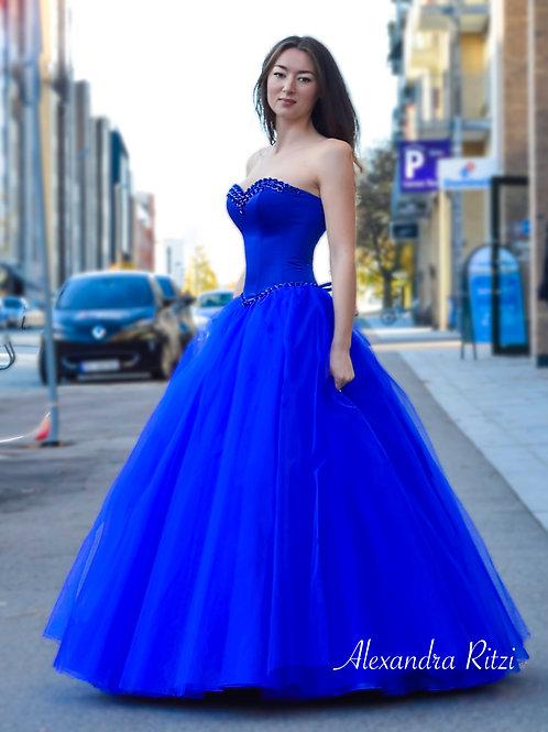 Camila kongeblå ballkjole