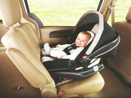 Recomendaciones para el uso de asientos de bebé en el automovil.