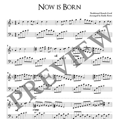 Now is Born (Piano Solo)