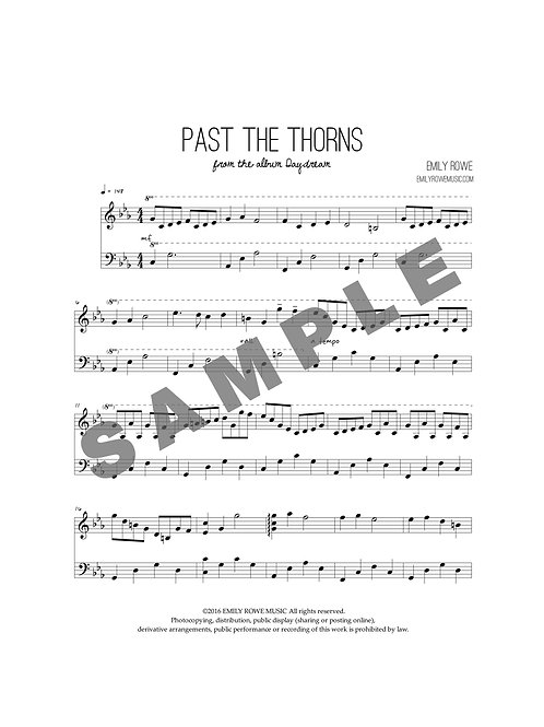 Past the Thorns (Piano Solo)