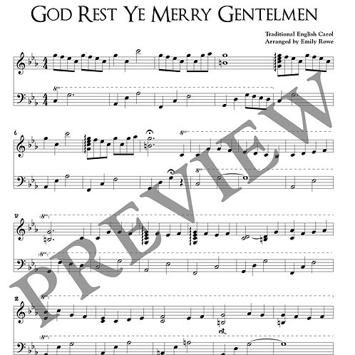 God Rest Ye Merry Gentelmen (Piano Solo)