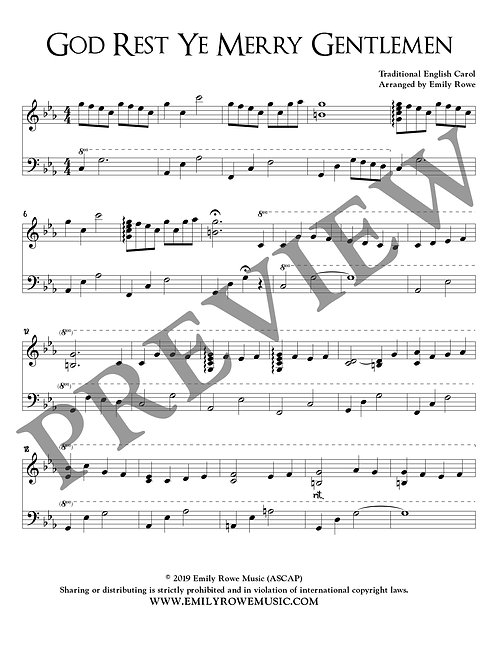 God Rest Ye Merry Gentlemen (Piano Solo)