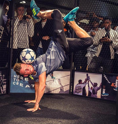 hire a football freestyler in the uk boo