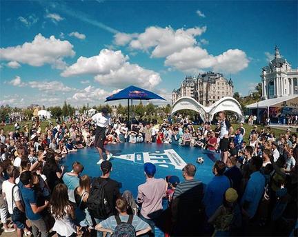 football freestyle show Saint Petersburg