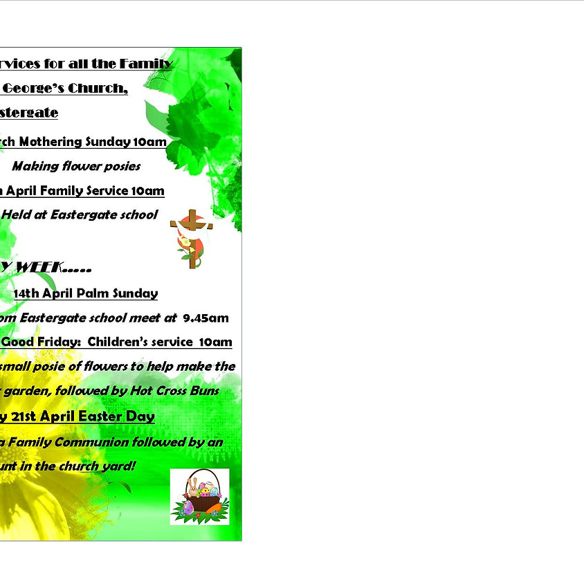 Services for all the Family at St George's Eastergate