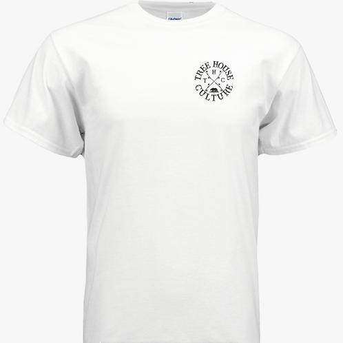 White tee W/ THC logo