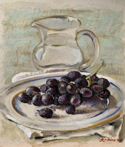 Black Grapes with Jug
