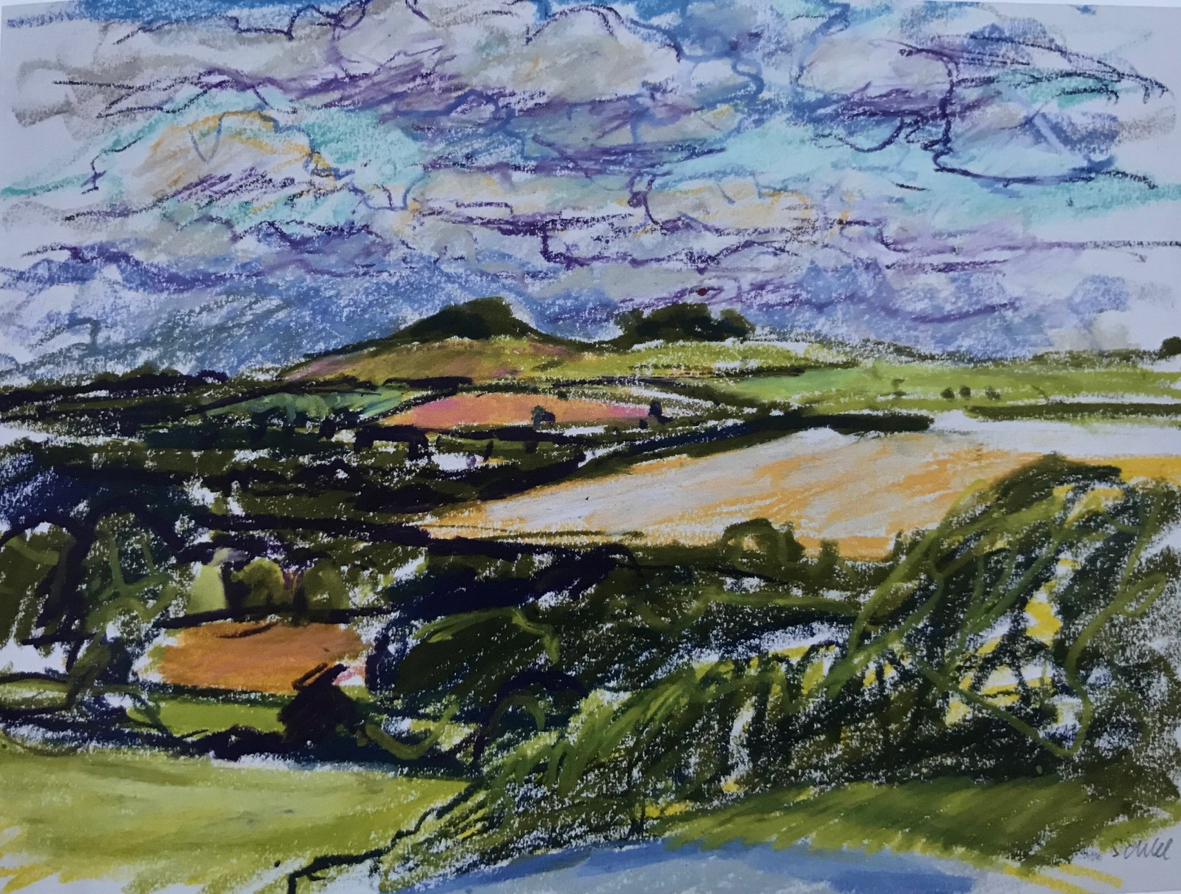 Ridgeway from Wittenham Clumps