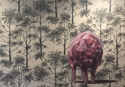 Piggy in the wood