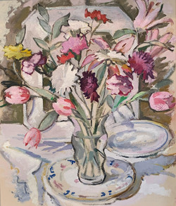 Tulips, Lilies and Carnations