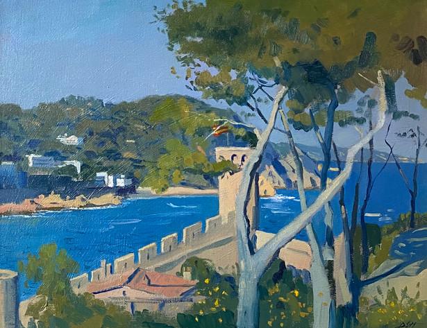 Afternoon light, Deep blue Mediterranean Sea