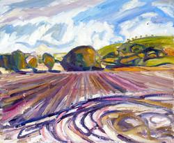 'Rushing plough to copse'