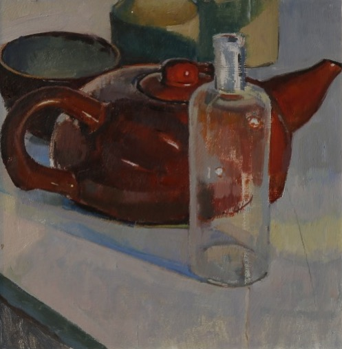 Teapot and bottle