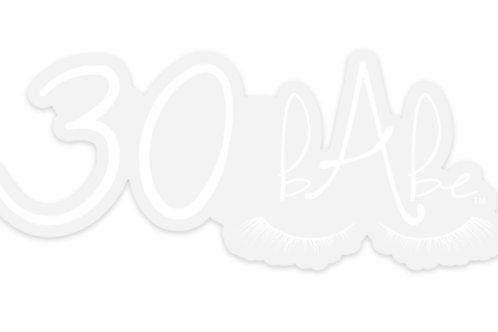 White 30bAbe Decal