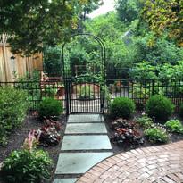 Herb garden walks and fencing