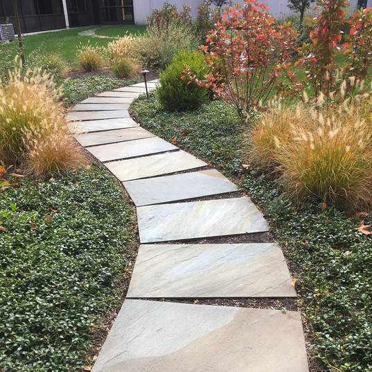 Commercial walkway naturalized