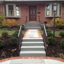 flagstone with brick edge