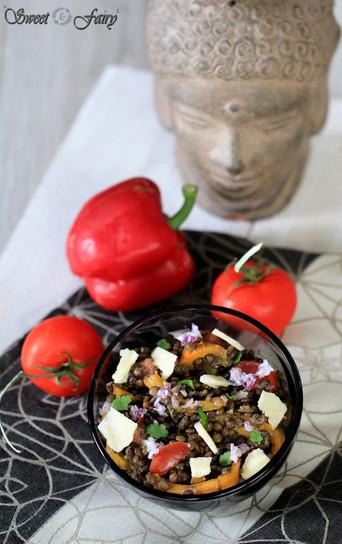 Salade de lentilles à la méditerranéenne