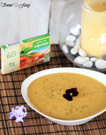 Soupe de lentilles corail & carottes