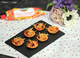 Pâte brisée maison & tartelettes tomate, maïs & poivrons