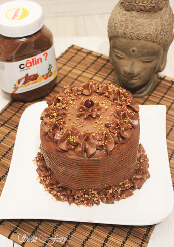 Battle food #37 : Layer cake Nutella